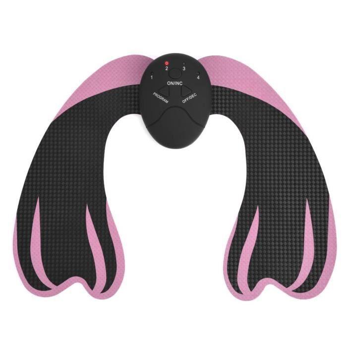 BOYOU Machine de massage de soulèvement de fesses EMS Masseur Stimulation Musculaire Noir + Rose