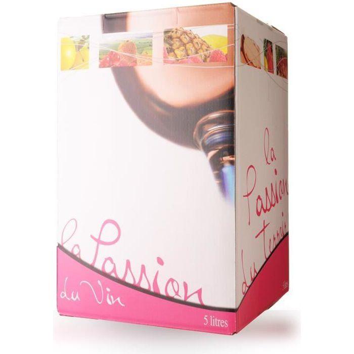 Bag-In-Box 5L Domaine de Lescure Rosé IGP Comté Tolosan - 500cl - Vin Rosé