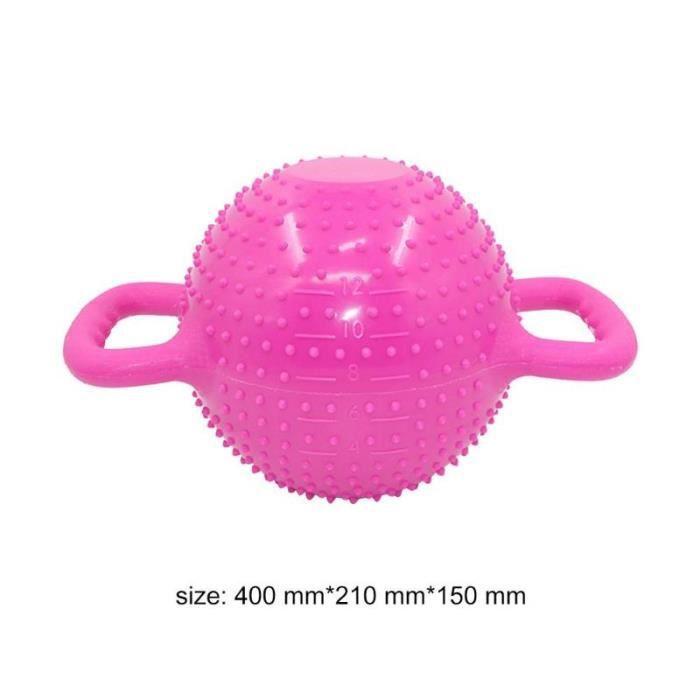 Yoga Fitness bouilloire cloche 4-12LB réglable eau Kettlebell haltère Double poignées Pilate exercic - Modèle: Marron -