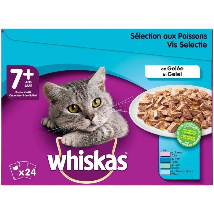 Nourriture pour chats Whiskas Senior7+ - Sachets fraîcheur pour chat senior (stérilisé ou non), sélection aux poissons e 38231