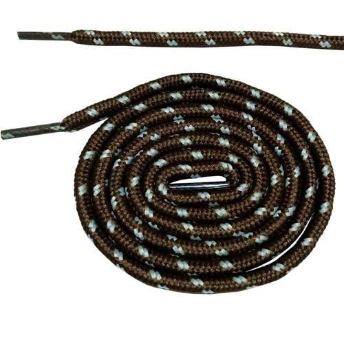 brown and white -Bottes à lacets ronds 180cm-70.5 pouces, cordons pour chaussures avec points, 10 couleurs