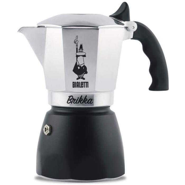 Bialetti New Brikka, Aluminium, Cafetière Double Crème, 4 Tasses