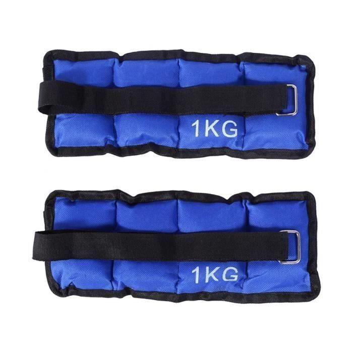 1Kg Sacs de Sable de Charge pour Formation Jogging Exercise Sur Bras Cheville C0D4A