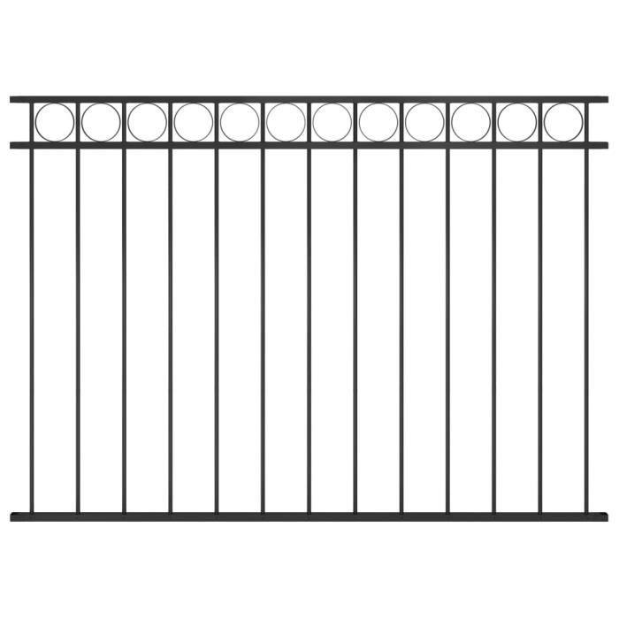 ♫3795 Brise vue - Clôture de jardin Brise vue Classique Acier 1,7x1,2 m Noir MMCZ®
