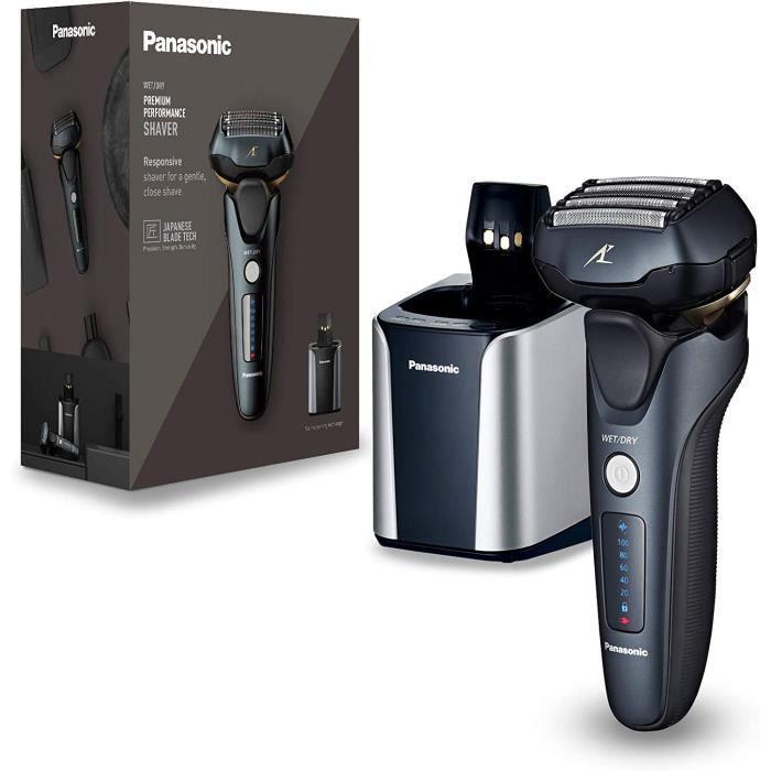 Rasoir Electrique Panasonic ES-LV97-K803 Rasoir avec Moteur Lin&eacuteaire et capteur de densité de barbe, 5 lames, T&ec253