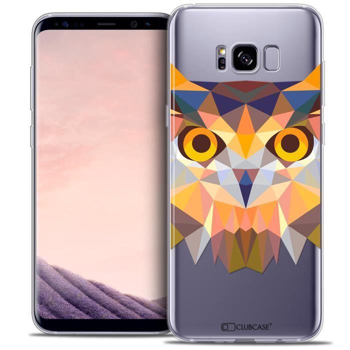 Coque Gel Samsung Galaxy S8+/ Plus (G955) Extra Fine Polygon Animals - Hibou