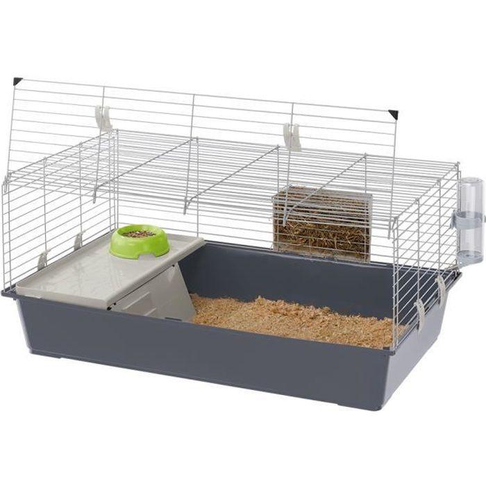 Cage Lapin Et Cobaye Bac Gris Rabbit 120 - Ferplast