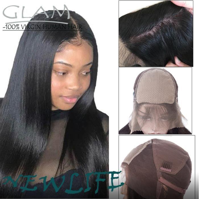 180% Densité silk Base full lace perruque de cheveux humains Pour Femmes Brésilienne Remy Humain Couleur Naturelle 10pouces