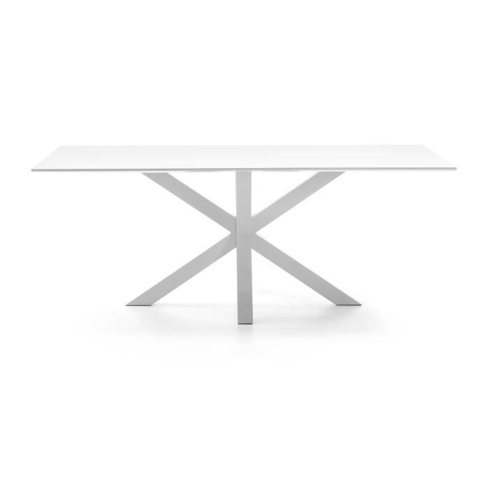 Table Argo epoxy blanc et laque blanc