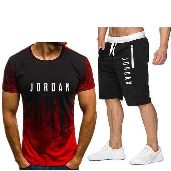 3d print shorts,2 pièces ensemble hommes lettre marque t-shirt shorts été court ensemble survêtement hommes sport costume jogging s