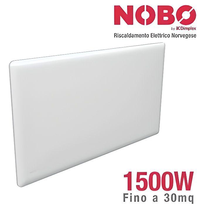 Nobo Radiateur électrique norvégien 1500 W, idéal jusqu'à 20 m², avec thermostat numérique NCU-2Te conforme à la réglementation euro