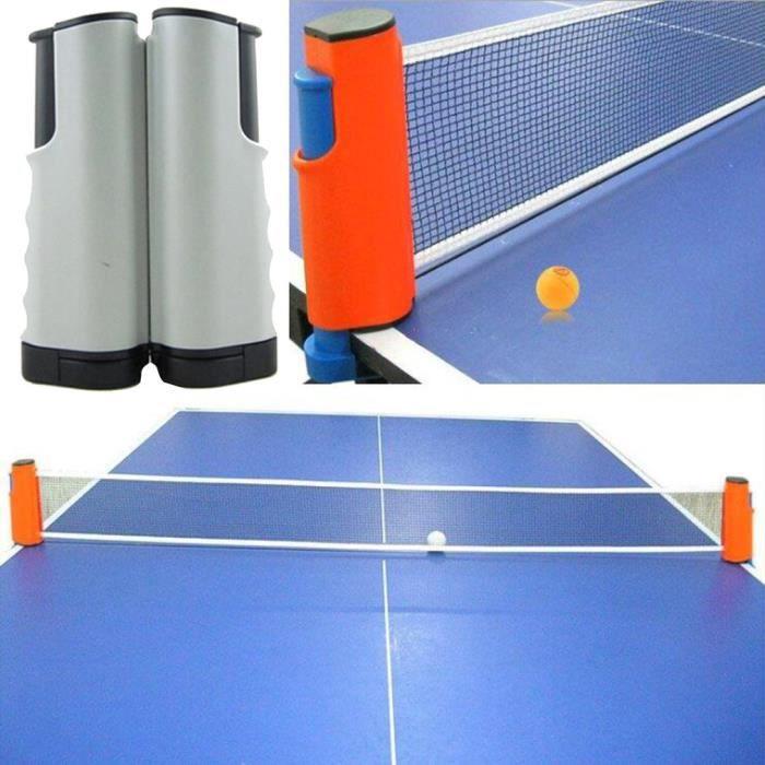 Filet de Ping Pong, Filet de Tennis de Table Rétractable pour Intérieur et Extérieur gris noir
