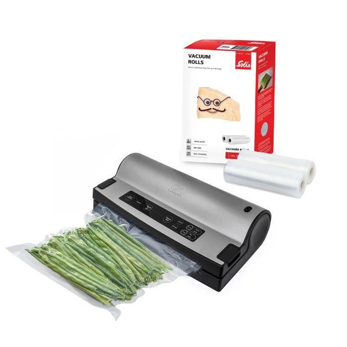 Machine Sous Vide Alimentaire - Vac Prestige 575 + 2 Rouleaux Sous Vide Alimentaire + 50 Sac Sous Vide Alimentaire Solis