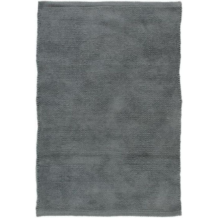 CHENILLE - Tapis en coton extra-doux gris nuage 85x55
