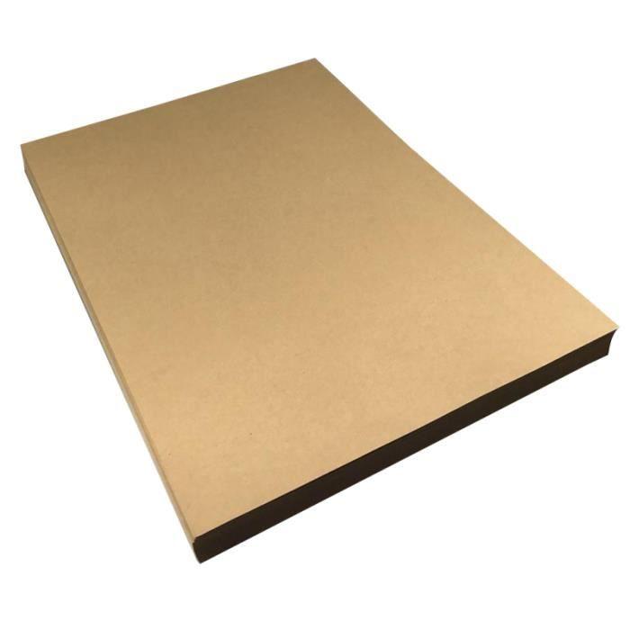 50 feuilles 21x29cm A4 Papier kraft vierge à lettres rétro à vintage Papeterie (Poids 120g) PARTITION
