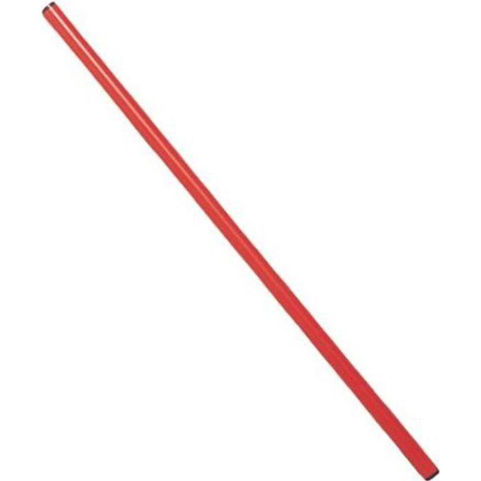 Baton de gymnastique en PVC 1.20 m - Rouge