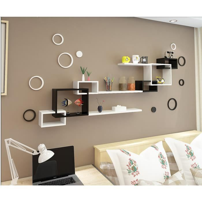 cloison murale tag re murale salon tv fond cr atif. Black Bedroom Furniture Sets. Home Design Ideas