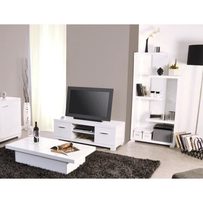 Ensemble salon tremelo laqu blanc achat vente meuble for Ensemble salon blanc