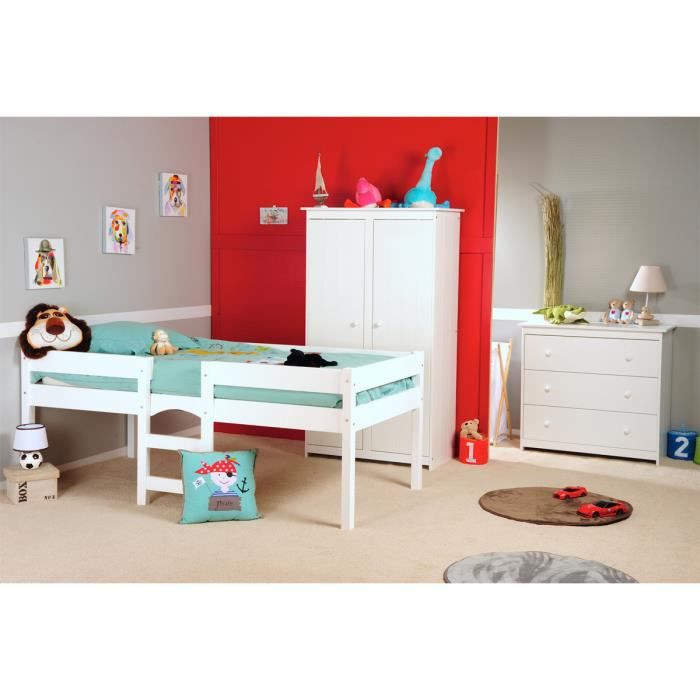 chambre enfant avec lit sur lev grain d 39 orge achat. Black Bedroom Furniture Sets. Home Design Ideas