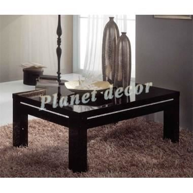 table basse roma chic noir achat vente table basse table basse roma chic noir cdiscount. Black Bedroom Furniture Sets. Home Design Ideas