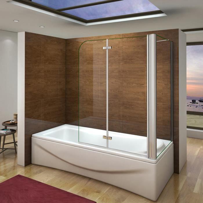 pare baignoire 90x140cm paroi de douche fixe 70x1