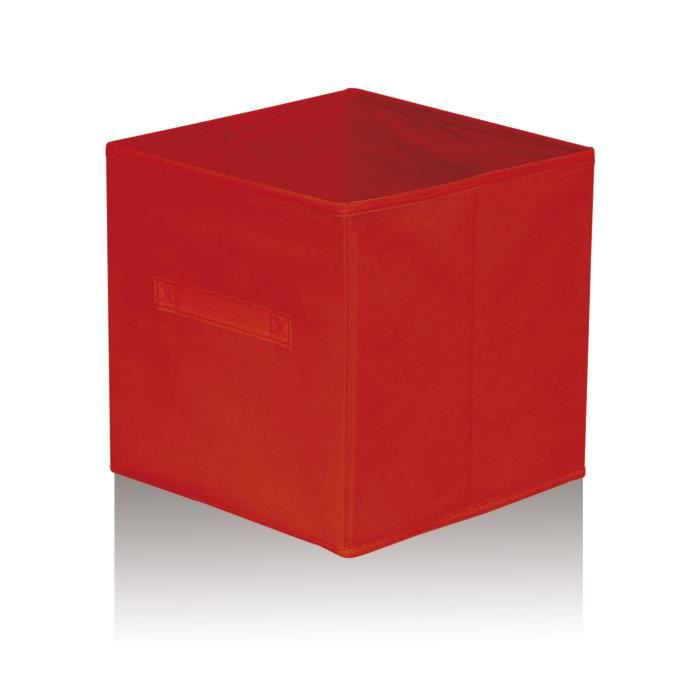 cube de rangement rouge 32 cm achat vente casier pour meuble cdiscount. Black Bedroom Furniture Sets. Home Design Ideas