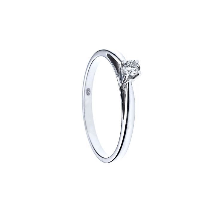 DIAMOND LANE Bague Argent 925° et Diamants T.58