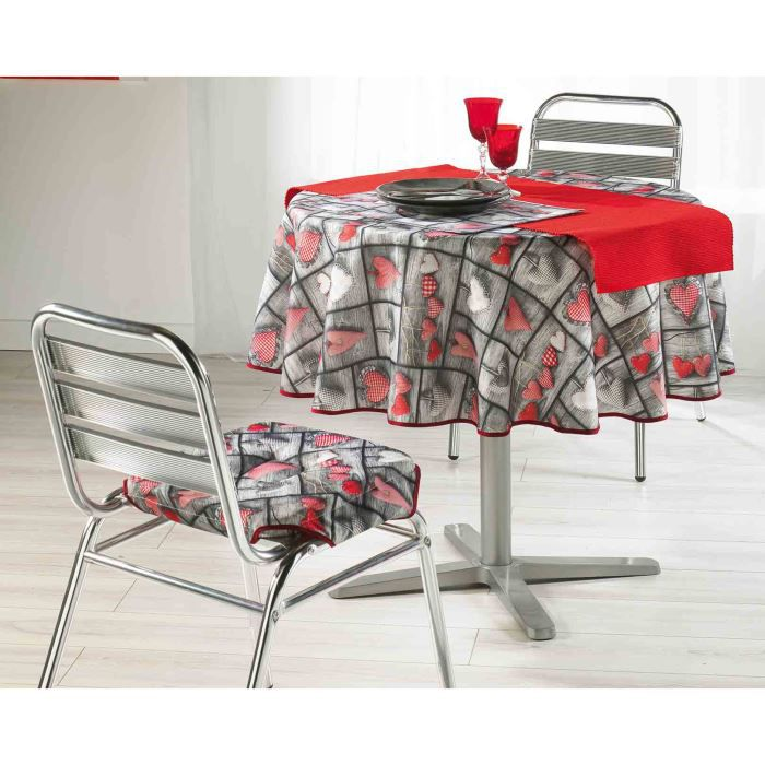 Nappe ronde photoprint 180 cm sweet love achat vente nappe de table cdi - Table ronde 180 cm diametre ...