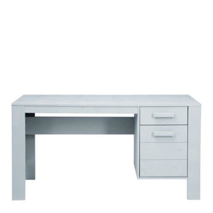 bureau en pin bross denis couleur gris clair achat vente bureau bureau en pin bross denis. Black Bedroom Furniture Sets. Home Design Ideas