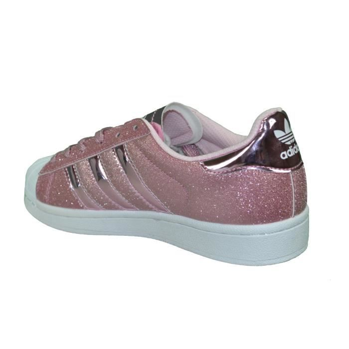 Adidas Originals - Baskets - Superstar Paillettes - Rose ...