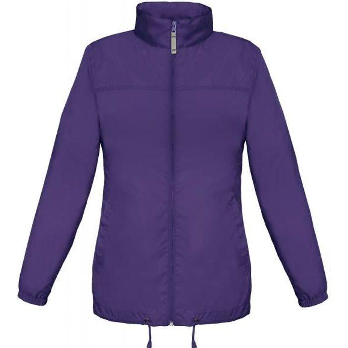 Imperméable - Trench Coupe vent imperméable femme - JW902 - violet pour