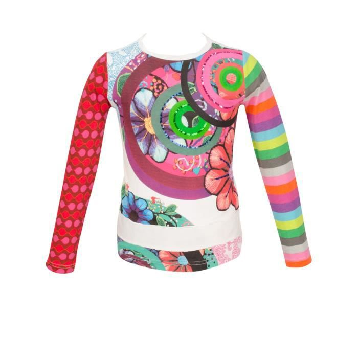 DESIGUAL - TEE SHIRT FILLE MANCHES LONGUES