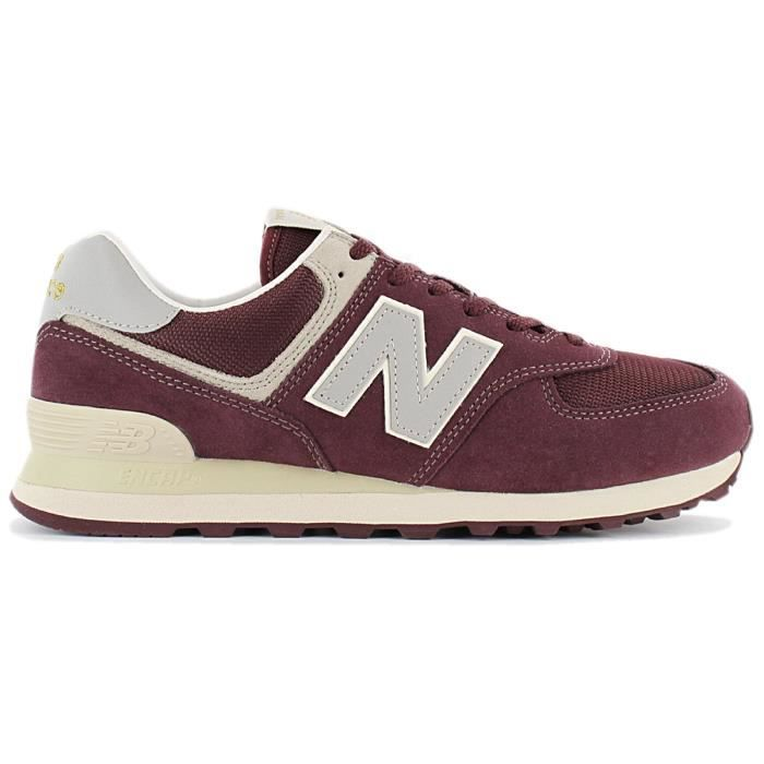 new balance 574 homme rouge