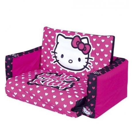 fauteuil lit d 39 appoint hello kitty achat vente fauteuil canap b b cdiscount. Black Bedroom Furniture Sets. Home Design Ideas