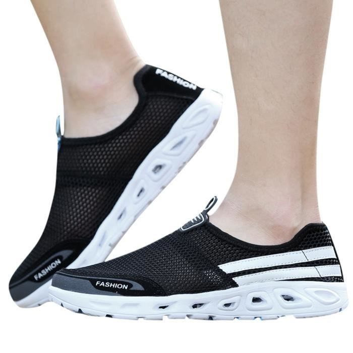 Couple creux Mesh Fashion Slip-On Sneaker léger Chaussures Sneakers respirant
