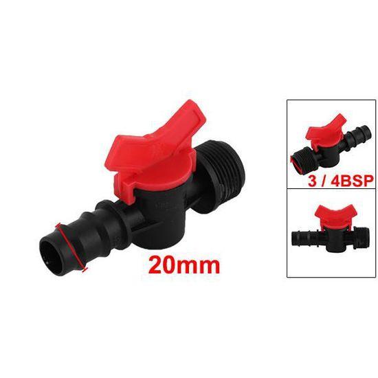 Jardin plastique 9mm Trou Arrosage Connecteur adaptateur buse 4 pcs noir