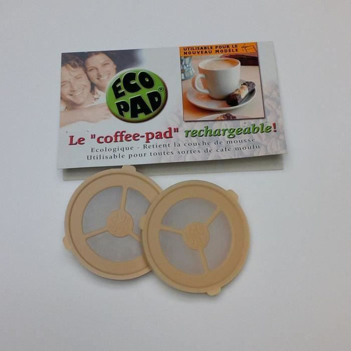 MACHINE À CAFÉ Ecopads - 2 Dosettes rechargeables prmanentes pour