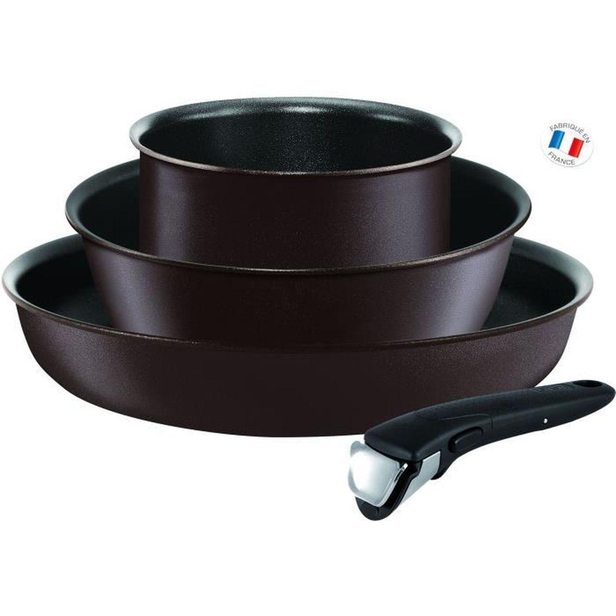 Batterie De Cuisine Gaz tefal ingenio chef batterie de cuisine 4 pièces l6559702 18