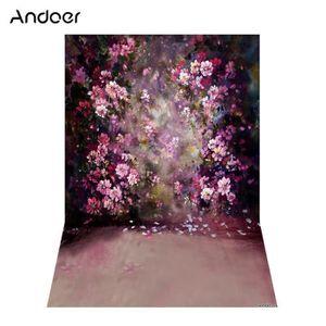 FOND DE STUDIO Andoer 1.5 * 2.1 m / 5 * 7ft Fleur Mur Photographi