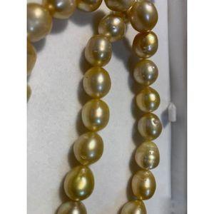 "Véritable Naturel 9-11 mm Silver Gray Akoya Cultured Pearl Baroque Collier 18/"" AAA"