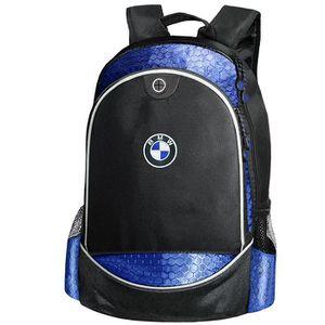 SAC À DOS BMW CARBONE UNIQUE Sac à Dos Bleu Logo Brodé Auto