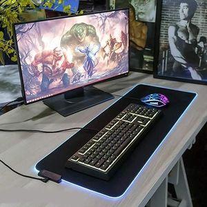 TAPIS DE SOURIS Tapis de Souris LED pour PC HP OMEN Clavier Bureau