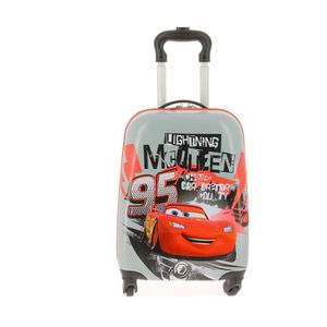 VALISE - BAGAGE Cars - Valise rigide 4 roulettes Cars grise