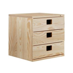 petit meuble rangement en pin massif achat vente pas cher. Black Bedroom Furniture Sets. Home Design Ideas