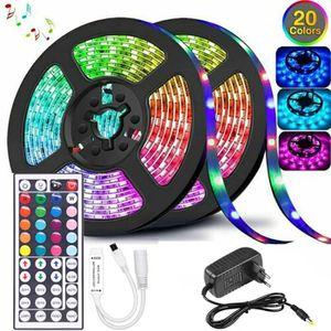 L8star LED Ruban Intelligent Bande Lumineuse Led 5050 RGB SMD Multicolore Bande LED Lumineuse avec T/él/écommande changement Ruban /à LED 16.4ft
