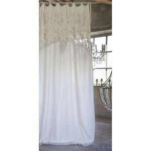 RIDEAU Blanc Mariclo - Rideau Almond ecru 140 x 290 cm a