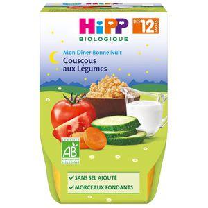 PURÉES DE LÉGUMES HIPP BIOLOGIQUE Mon dîner bonne nuit Couscous aux