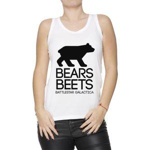 T-SHIRT Bears. Beets. Battlestar Galactica Femme Débardeur