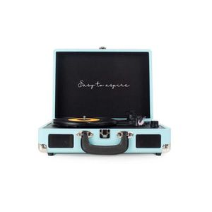 PLATINE VINYLE PRIXTON VC400 Tourne-disque Bleu e avec Haut-parle