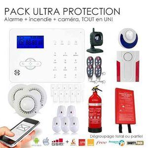 KIT D'ALARME ULTRA SECURITE pour alarme, incendie et caméra IP